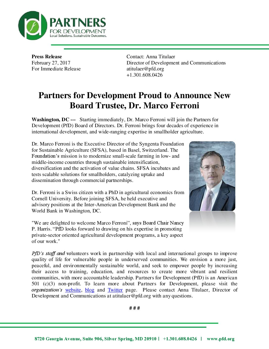 Partners for Development » Reports and Publications