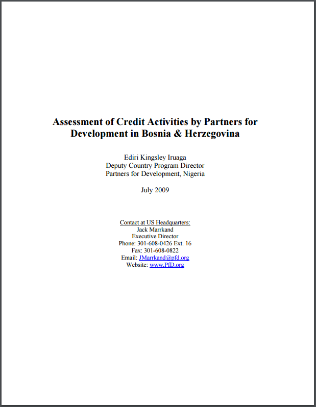Micro-Credit Assessment Bosnia & Herzegovinia