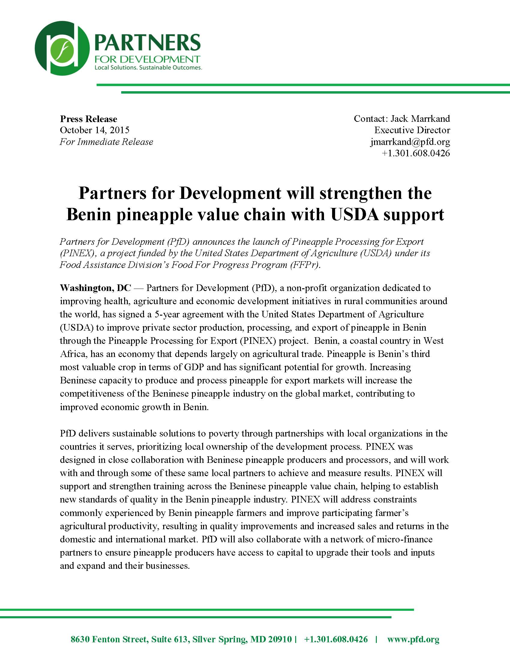 press-release_partners-for-development-announces-pinex_for-distribution_page_1