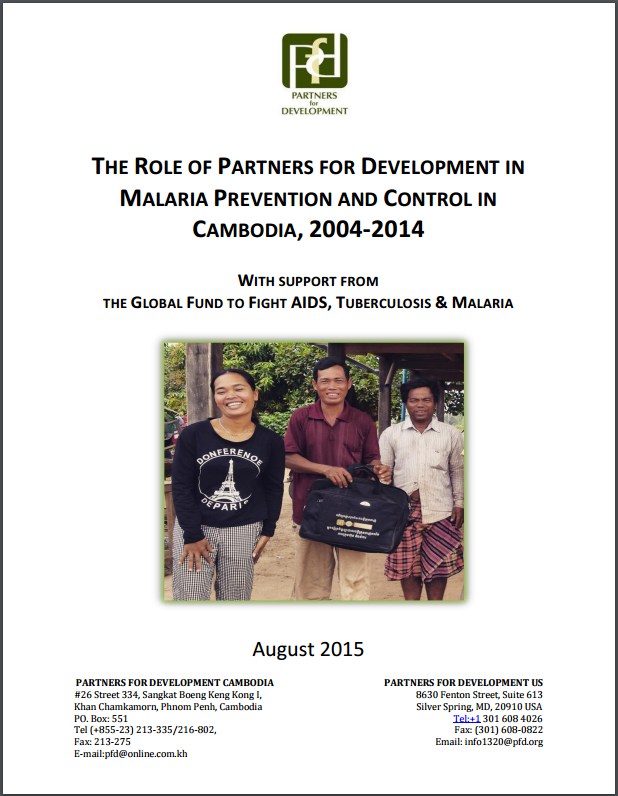 The Role of Partners for Development in Malaria Prevention and Control in Cambodia, 2004-2014